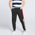 Next Slim Fit Jogger Trouser For Kids-Charcoal with Maroon & Grey Melange Panels-SP2604