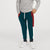 Next Slim Fit Jogger Trouser For Kids-Dark Cyan Green with Red & White Stripe-BE11274