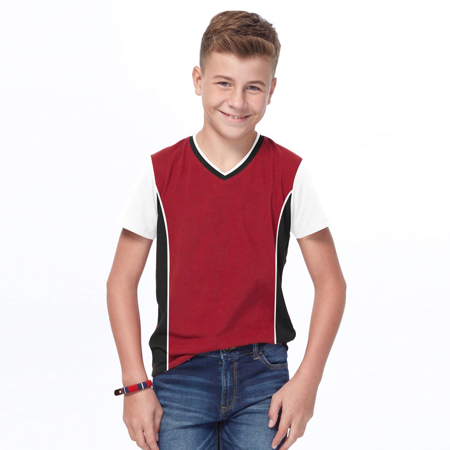 Next Sports Wear V Neck Tee Shirt For Kids-BE9099