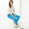 Next Straight Fit Cotton Trouser For Ladies-Allover Print-BE8642