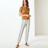 Next Straight Fit Cotton Trouser For Ladies-Striped-BE8647