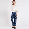 Next Straight Fit Cotton Trouser For Ladies-Allover Print-BE8640