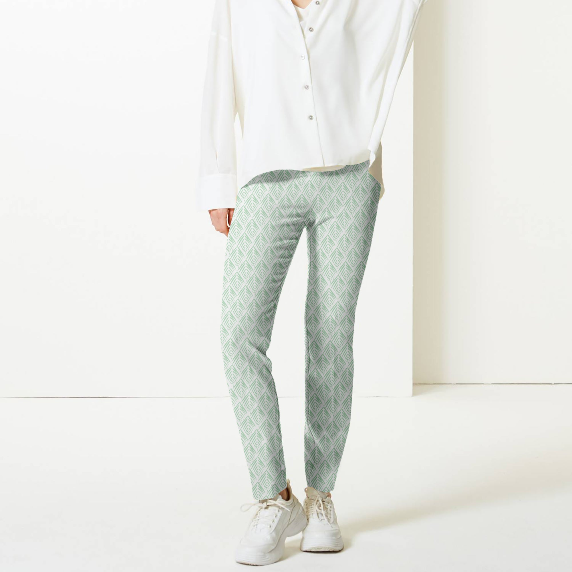 Next Straight Fit Cotton Trouser For Ladies-BE8637