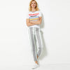 Next Straight Fit Cotton Trouser For Ladies-Striped-BE8639