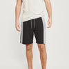 Next Summer Terry Jersey Short For Men-Dark Brown & Grey Stripe-BE8828