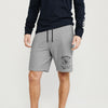 Next Summer Terry Jersey Short For Men-Grey Melange-BE8837