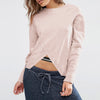 Next Terry Fleece Crew Neck Top For Ladies-Light Pink-BE6962