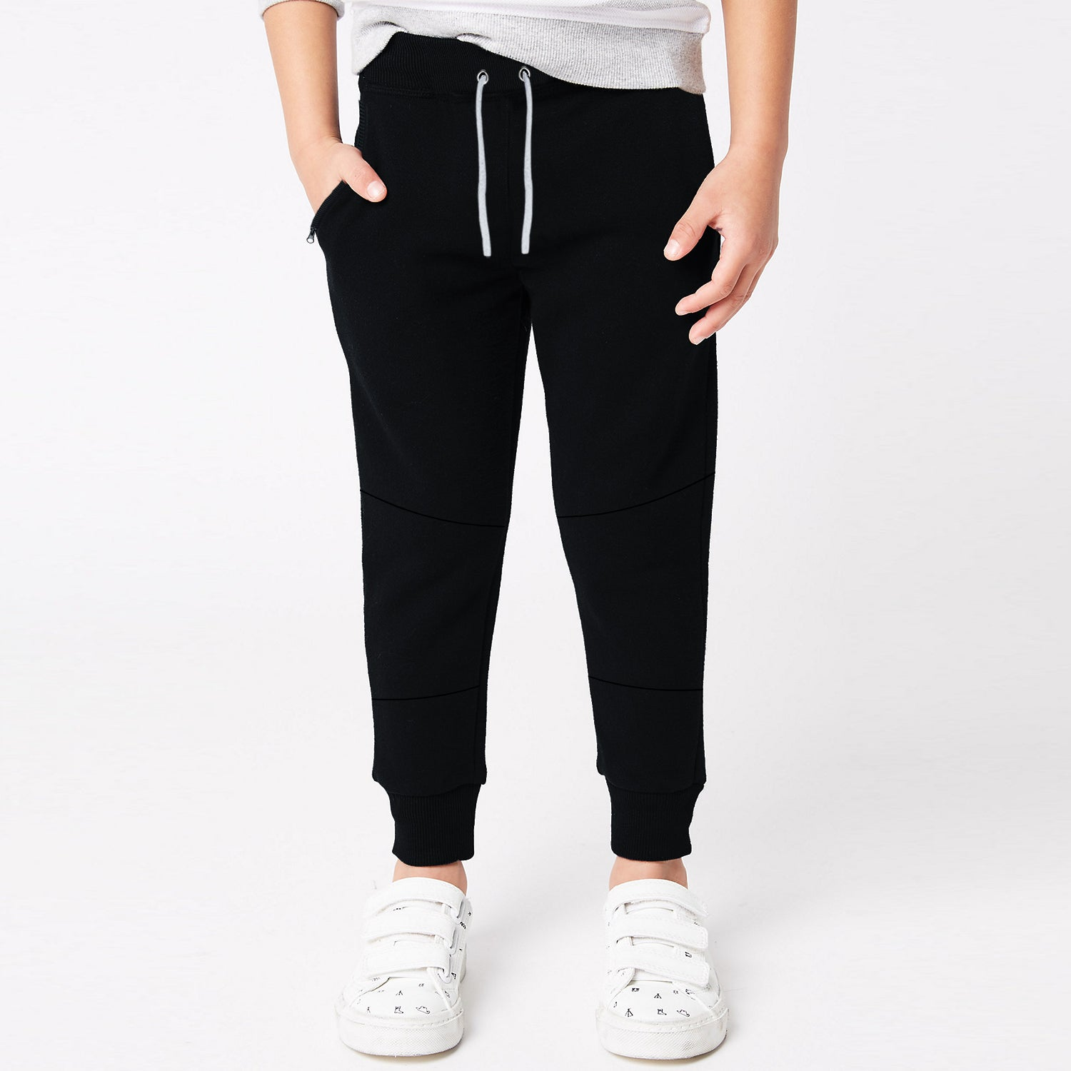 Next Terry Fleece Jogger Trouser For Kids-Black-BE10055