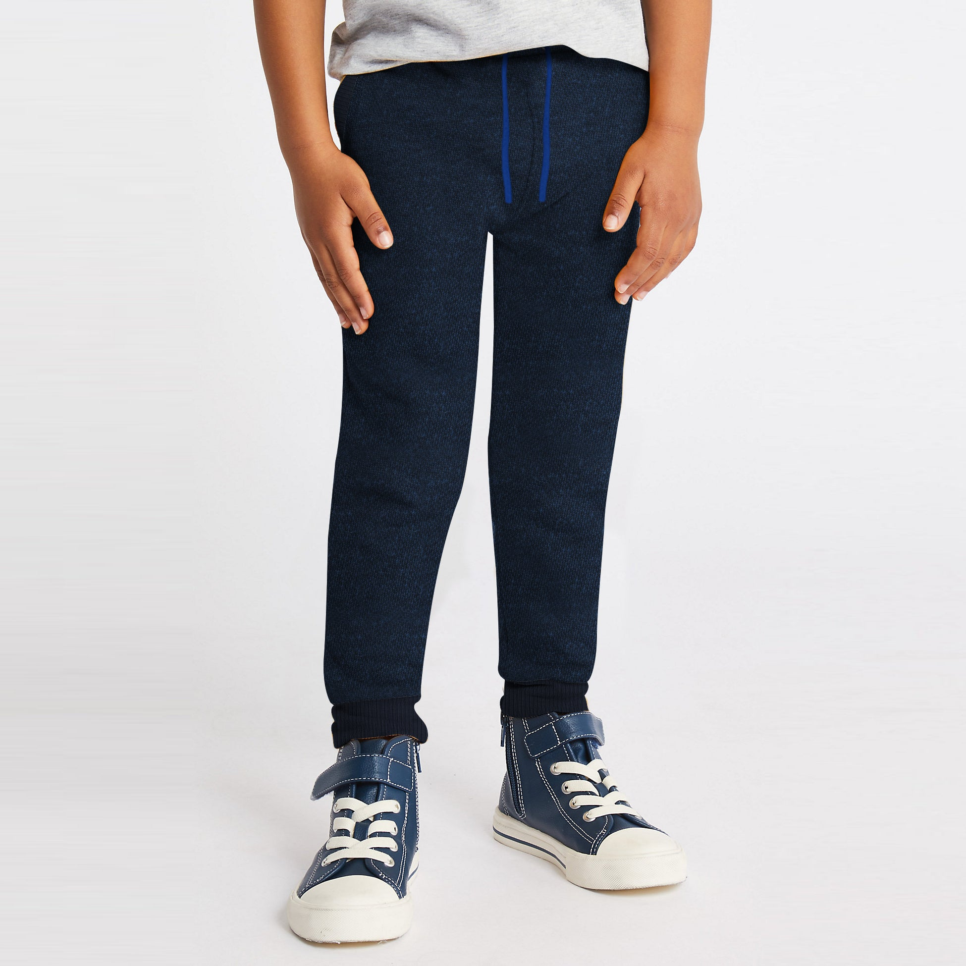 Next Terry Fleece Jogger Trouser For Kids-Dark Navy Melange-BE10013
