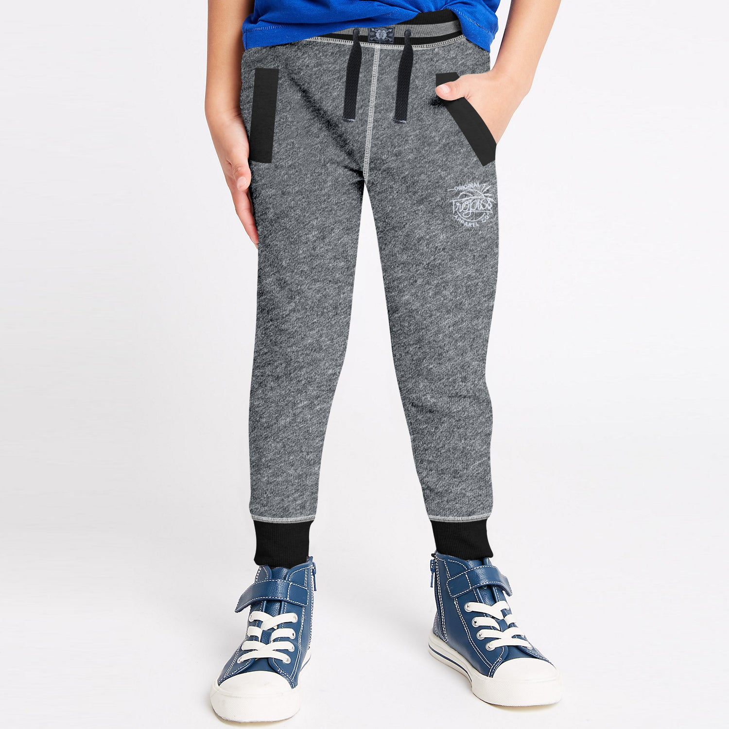Next Terry Fleece Jogger Trouser For Kids-Grey Melange-BE10053