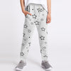 Next Terry Fleece Jogger Trouser For Kids-Grey Melange with Stars Print-BE10016