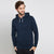 Next Terry Fleece Pullover Hoodie For Men-Dark Navy Melange Lining-BE6281