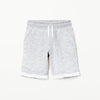 NEXT Terry Fleece Short For Boys-White with Melange-BE7054