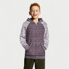 Next Terry Fleece Stylish Sports Zipper Hoodie For Kids-Maroon & Off White Melange-BE10123