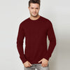Next Terry Fleece Sweatshirt For Men-Dark Red-BE6894