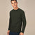 Next Terry Fleece Sweatshirt For Men-Olive Green-BE6253