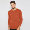 Next Terry Fleece Sweatshirt For Men-Orange-BE6889