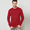 Next Terry Fleece Sweatshirt For Men-Red-BE6893
