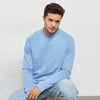 Next Terry Fleece Sweatshirt For Men-Sky-BE6940