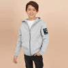 A&F Terry Fleece Zipper Hoodie For Kids-Grey Melange-BE7875