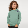 Next Terry Fleece Pullover Hoodie For Kids-Light Olive Melange-BE6566