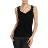 Nextmia Viscose Knit Nighty Top For Ladies-Black-BE8732