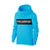 P&B Fleece Pullover Hoodie For Men-Cyan Melange With Black Panel-BE13832