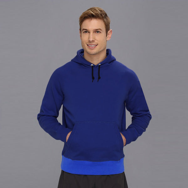 "Men's ""CR"" Pull Over Solid Fashion Hood-Royal Blue-BE3311"