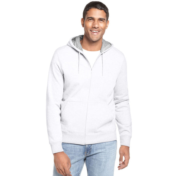 "Men's ""NEXT"" Zipper Hoodie-Off White- BE504"