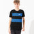 NK Crew Neck Single Jersey Tee Shirt For Kids-Black & Blue Melange Panels-BE12414