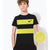 NK Crew Neck Single Jersey Tee Shirt For Kids-Black & Yellow Panels-BE12410