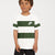 NK Crew Neck Single Jersey Tee Shirt For Kids-White with Dark Olive Green Panels-BE12036