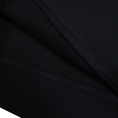 NK Fleece Black with White Embroidery Sweatshirt For Men-Black-BE10223