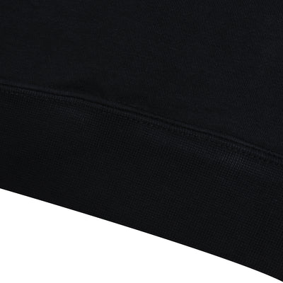 NK Fleece Black with White Embroidery Sweatshirt For Men-Black-BE10229
