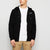 NK Fleece Black with White Embroidery Zipper Hoodie For Men-Black-BE10327