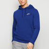 NK Fleece Blue & White Embroidery Pullover Hoodie For Men-Blue-BE10295