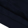 NK Fleece Dark Navy with White Embroidery 1/4 Zipper Hoodie For Men-Dark Navy-BE10254
