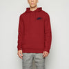 NK Fleece Dark Red & Navy Embroidery Pullover Hoodie For Men-Dark Red-BE10280