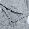 NK Terry Fleece Grey Melange & Navy Embroidery Pullover Hoodie For Men-Grey Melange-BE10241