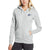NK Fleece Grey Melange & Navy Embroidery Zipper Hoodie For Ladies-Grey Melange-BE12927