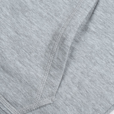 NK Fleece Grey Melange with Navy Embroidery Zipper Hoodie For Men-Grey Melange-BE10261