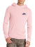 NK Fleece Light Peach & Navy Embroidery Pullover Hoodie For Men-Light Peach-BE10239