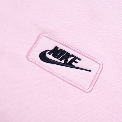 NK Fleece Light Pink with Navy Embroidery Sweatshirt For Men-Light Pink-BE10217