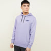 NK Fleece Light Purple & Navy Embroidery Pullover Hoodie For Men-Light Purple-BE10309