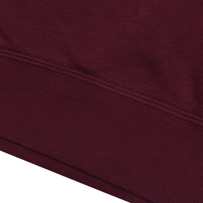 NK Fleece Maroon & White Embroidery Pullover Hoodie For Men-Maroon-BE10252