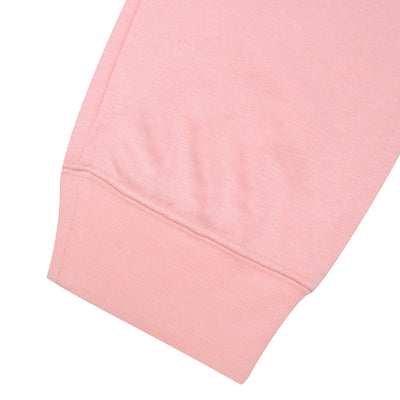 NK Fleece Pink & Navy Embroidery Slim Fit Jogger Trouser For Men-Coral Pink-BE10548