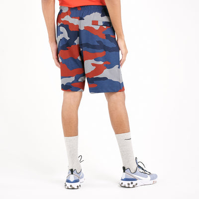 NK Fleece Red & Navy Embroidery Short For Men-Camouflage-BE10344