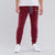 NK Summer Terry Slim Fit Trouser For Men- Meroon With White Embroidery-UE011