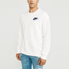 NK Fleece White with Navy Embroidery Sweatshirt For Men-White-BE10218