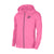 NK Fleece Zipper Hoodie For Men-Magenta Melange with Navy Embroidery-BE14073